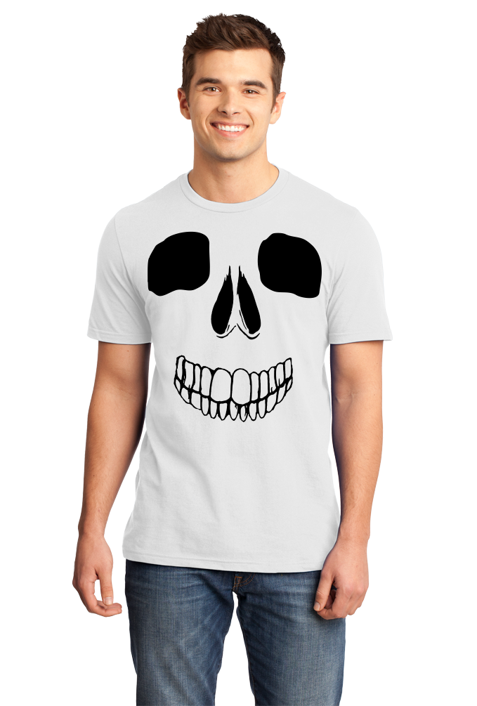 Standard White Skeleton Face - Skull Spooky Halloween Fun Silly Hipster T-shirt