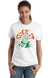 Ladies White SOCK IT TO ME T-shirt
