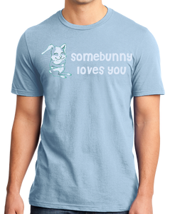 Standard Light Blue Somebunny Loves You - Cute Bunny Rabbit Owner Lover Fan Gift T-shirt