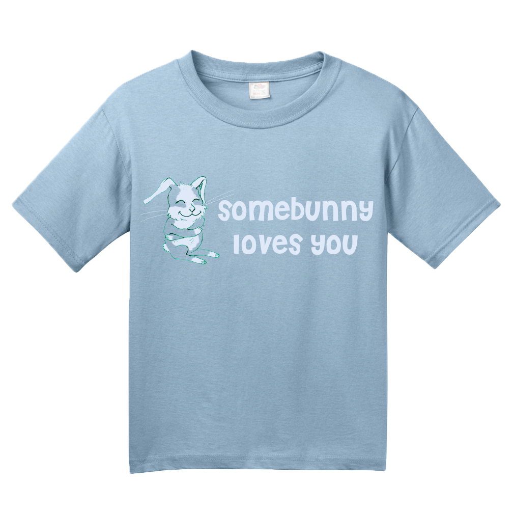 Youth Light Blue Somebunny Loves You - Cute Bunny Rabbit Owner Lover Fan Gift T-shirt