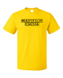 Standard Yellow Waffle Casa - Waffle House Lover Parody Espanol Grits Funny T-shirt
