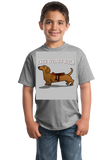 Youth Grey Free Weiner Rides - Dachshund Dog Humor Funny Silly Joke T-shirt