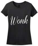 Ladies Black Wonk - Political Humor Republican Democrat Page Staffer The Hill T-shirt