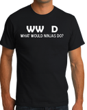 Standard Black What Would Ninjas Do? - Ninja Joke Atheist Humor Funny Meme T-shirt