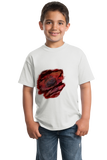 Youth White Zombie Bite Halloween Costume - Horror Fan T-shirt