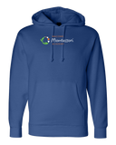 Pullover Hoodie Royal Macomb Montessori Academy Green, White, and Orange Logo pullover-hoodie