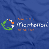 Macomb Montessori Academy Green, White, and Orange Logo Royal Art Preview