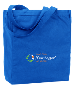 Tote Royal Macomb Montessori Academy Green, White, and Orange Logo Tote
