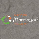 Macomb Montessori Academy Green, White, and Orange Logo Grey Art Preview