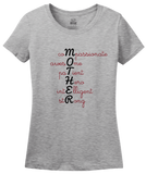 Ladies Grey Acrostic Mother Poem - Mother's Day Gift Words For Mom Love