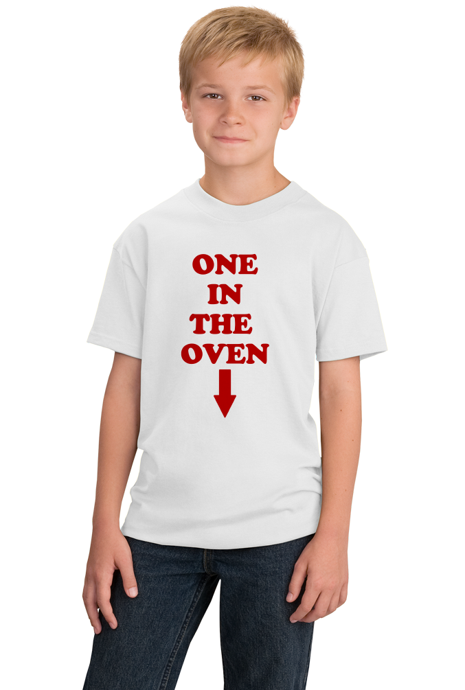 "Youth White ""One In The Oven"" - Police Academy Homage Movie T-shirt"