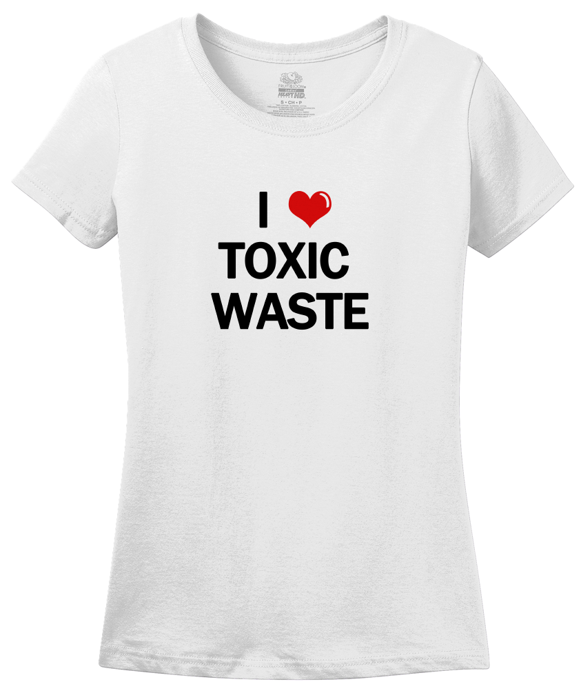 Ladies White I Heart Toxic Waste - Real Genius 80s Homage T-shirt
