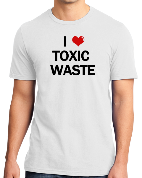 Standard White I Heart Toxic Waste - Real Genius 80s Homage T-shirt