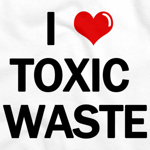 I Heart Toxic Waste | Real Genius 80s Homage White art preview