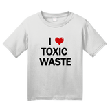 Youth White I Heart Toxic Waste - Real Genius 80s Homage T-shirt
