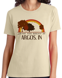 Ladies Natural Living the Dream in Argos, IN | Retro Unisex  T-shirt