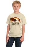 Youth Natural Living the Dream in Askov, MN | Retro Unisex  T-shirt