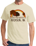 Standard Natural Living the Dream in Atqasuk, AK | Retro Unisex  T-shirt