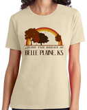 Ladies Natural Living the Dream in Belle Plaine, KS | Retro Unisex  T-shirt