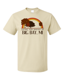 Standard Natural Living the Dream in Big Bay, MI | Retro Unisex  T-shirt