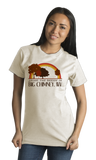 Standard Natural Living the Dream in Big Chimney, WV | Retro Unisex  T-shirt