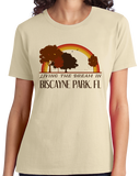 Ladies Natural Living the Dream in Biscayne Park, FL | Retro Unisex  T-shirt