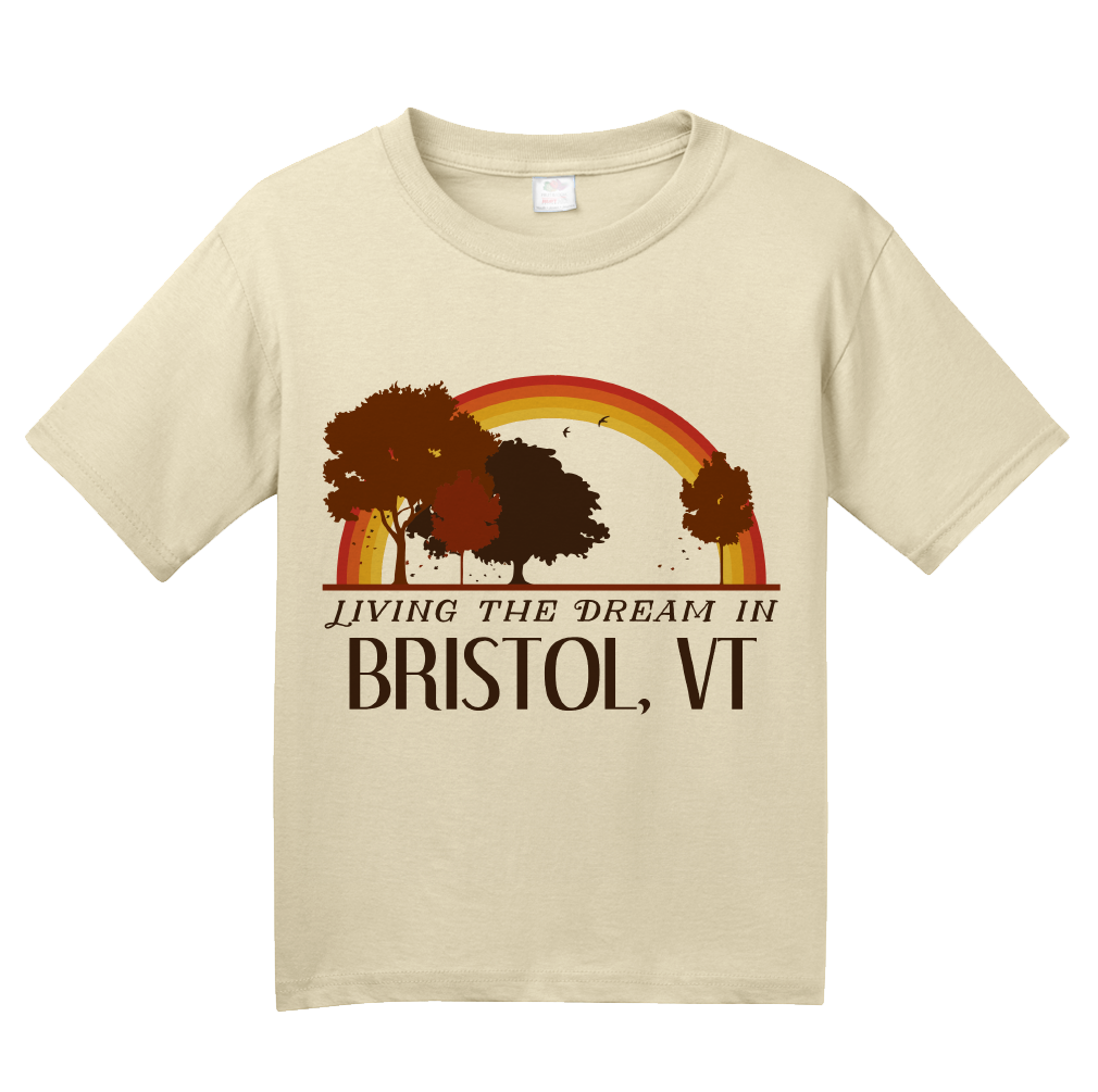 Youth Natural Living the Dream in Bristol, VT | Retro Unisex  T-shirt