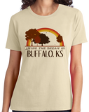 Ladies Natural Living the Dream in Buffalo, KS | Retro Unisex  T-shirt