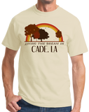 Standard Natural Living the Dream in Cade, LA | Retro Unisex  T-shirt