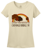 Ladies Natural Living the Dream in Chenango Bridge, NY | Retro Unisex  T-shirt