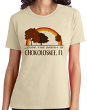 Ladies Natural Living the Dream in Chokoloskee, FL | Retro Unisex  T-shirt