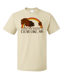 Standard Natural Living the Dream in Clear Lake, MN | Retro Unisex  T-shirt
