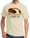 Standard Natural Living the Dream in Colby, KY | Retro Unisex  T-shirt