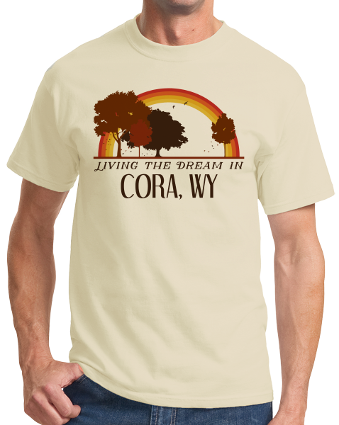 Standard Natural Living the Dream in Cora, WY | Retro Unisex  T-shirt
