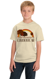 Youth Natural Living the Dream in Couderay, WI | Retro Unisex  T-shirt