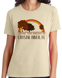 Ladies Natural Living the Dream in Crystal River, FL | Retro Unisex  T-shirt