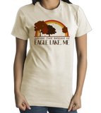 Standard Natural Living the Dream in Eagle Lake, ME | Retro Unisex  T-shirt