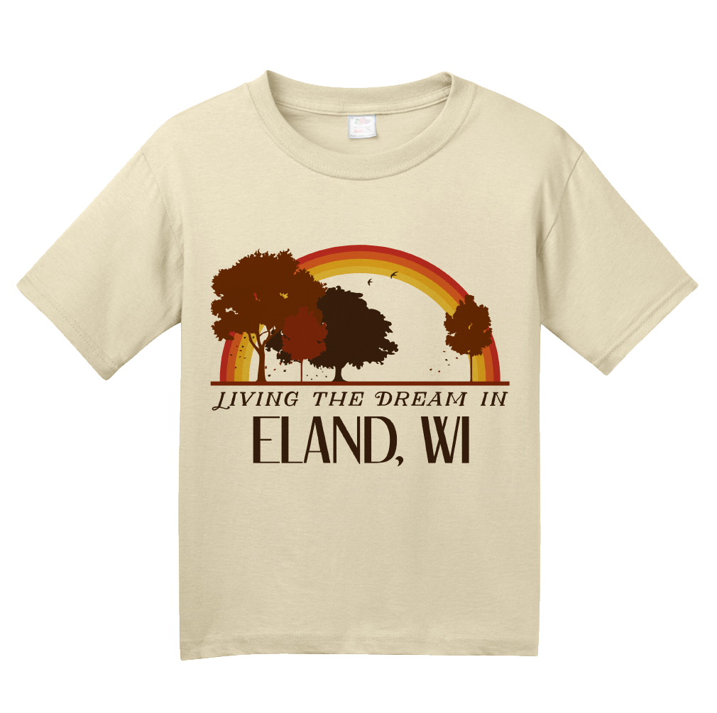Youth Natural Living the Dream in Eland, WI | Retro Unisex  T-shirt