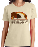 Ladies Natural Living the Dream in Fire Island, NY | Retro Unisex  T-shirt