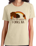 Ladies Natural Living the Dream in Forks, WA | Retro Unisex  T-shirt