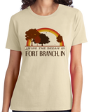 Ladies Natural Living the Dream in Fort Branch, IN | Retro Unisex  T-shirt