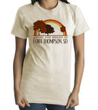 Standard Natural Living the Dream in Fort Thompson, SD | Retro Unisex  T-shirt