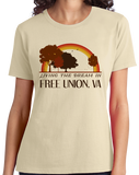 Ladies Natural Living the Dream in Free Union, VA | Retro Unisex  T-shirt