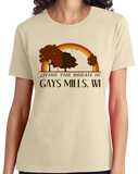 Ladies Natural Living the Dream in Gays Mills, WI | Retro Unisex  T-shirt
