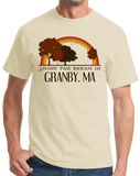 Standard Natural Living the Dream in Granby, MA | Retro Unisex  T-shirt