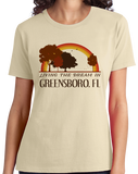 Ladies Natural Living the Dream in Greensboro, FL | Retro Unisex  T-shirt