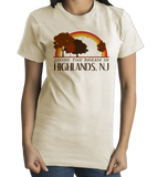 Standard Natural Living the Dream in Highlands, NJ | Retro Unisex  T-shirt