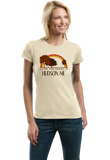 Ladies Natural Living the Dream in Hudson, ME | Retro Unisex  T-shirt