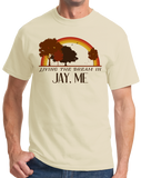 Standard Natural Living the Dream in Jay, ME | Retro Unisex  T-shirt