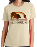 Ladies Natural Living the Dream in Lake Mohawk, NJ | Retro Unisex  T-shirt